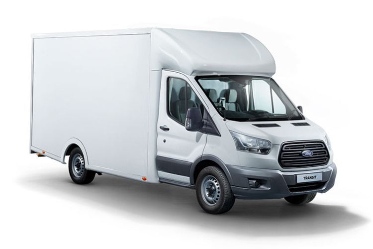 Ford Transit 350HD L3 RWD 2.0 EcoBlue DRW 170PS Leader Luton Auto [Start Stop] front view