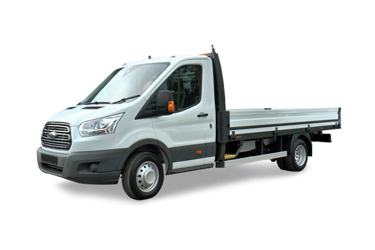 Ford Transit 350HD L5 RWD 2.0 EcoBlue DRW 170PS Leader Premium Dropside Auto [Start Stop] front view