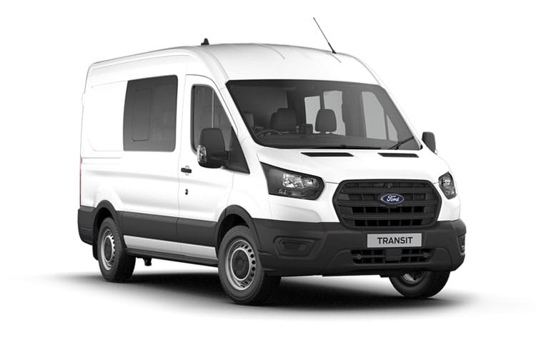 Ford Transit 350 L3 AWD 2.0 EcoBlue 4WD 130PS Leader Crew Van Medium Roof Manual [Start Stop] [DCiV] front view